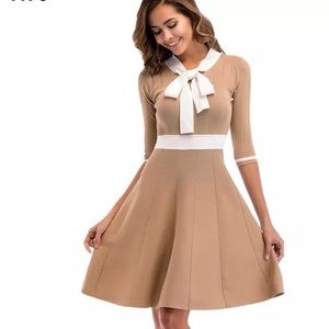 f16039ba2a58 Dresses & Skirts - Beige and white Knitted dress